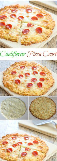 Cauliflower Pizza Crust. Gluten free, so tasty and feels like regular crust!