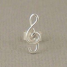 Tiny Cartilage Stud Treble Clef Music Stud by PuranaJewellery, £13.50