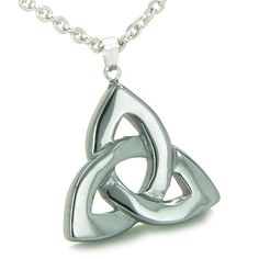 Celtic Triquetra Knot Magic Amulet Hematite Protection Powers Pendant 22 Inch Necklace * You can get more details by clicking on the image. (This is an affiliate link) #FashionNecklaces