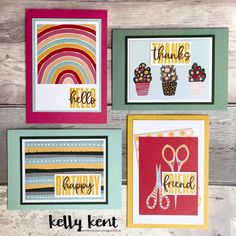 What a Year Memories & More – kelly kent Happy Friends, Embossing Folder, Stampin Up Cards, Thankful, Stripes, Rainbow, Colours, Memories, Frame