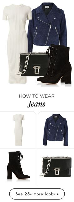 """""""Untitled #4089"""" by beatrizvilar on Polyvore featuring Acne Studios, Helmut Lang, Proenza Schouler and Gianvito Rossi"""