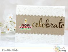 Hand stamped card by Chaitali Narla using the Light My World set from Verve. #vervestamps | Diwali