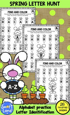 26 pages of beautiful Spring Bunny Daily 5 Activities, Spring Activities, Hands On Activities, Classroom Activities, Easter Activities, Alphabet Activities, Holiday Activities, Teacher Tools, Teacher Resources