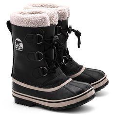 SOREL Yoot Pac TP - Czarne Skórzane Śniegowce Dziecięce - Buty Dzieci Śniegowce | Mivo