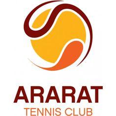 Logo of Ararat Tennis Club  Good use of shape and colour to create dimension