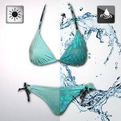 Aqua to Mermaid Bikini - Triangle Top & Hose - Bikini Fashion Mermaid Bikini, Bandeau Bikini, Monokini, Bandeau Tops, Mermaid Mermaid, Mermaid Outfit, Bikini Triangle, Triangle Top, Pin Up
