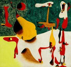 """Joan Miro """" Personnages en présence d'une métamorphose"""""""