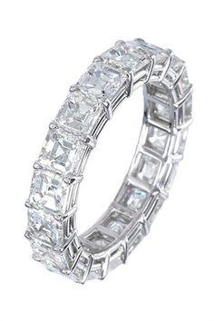 1aa069ab52b Carats of Emerald-Cut Diamonds stones) set in Platinum.