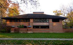 Arthur B Heurtley House (Frank Lloyd Wright Oak Park, Illinois Frank Lloyd Wright, Organic Architecture, Amazing Architecture, Oak Park Illinois, High Quality Images, Gazebo, Outdoor Structures, House, Oc