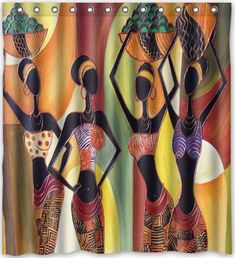 Funny design Afro American Women Shower Curtain x Generic Shower Curtain Liners. Product ID: Shower Curtain Sizes, Bathroom Shower Curtains, Fabric Shower Curtains, Curtain Sets, Basement Bathroom, African Interior, African Home Decor, African Women, African Art
