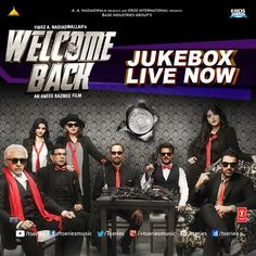 Here is the Jukebox of the craziest movie of the year!! **WELCOME BACK -JUKEBOX**--> http://bit.ly/1Mrvn0o  We are sure you will put this on R-E-PEAT mode over the weekend!!  #TseriesMusic #WelcomeBack #Jukebox #CrazyMovie #JohnAbraham #AnilKapoor #NanaPatekar