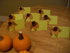Fall Place Cards Fall Place Cards, Cakes, Shower, Rain Shower Heads, Mudpie, Cake, Showers, Pastries, Pies