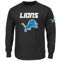 NFL Detroit Lions Men's Big and Tall Elite Reflective Long Sleeve T-Shirt
