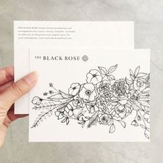 Printed collateral for The Black Rose / Paper & Type