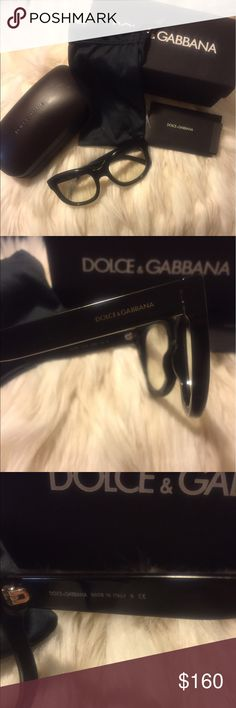 Dolce & Gabbana DG4166 Unisex Prescription Glasses High quality and brand new black Dolce & Gabbana frames . This item is eligible for prescription lens installation and has a high enough vertical width for your bi-focal or progressive lens. Full Rim glasses cover the lens on all sides. Item ranges in price between $200 and $300 and is mostly sold out everywhere. Dolce & Gabbana Accessories Glasses