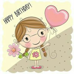 Find Cute Cartoon Girl Balloon Flower stock images in HD and millions of other royalty-free stock photos, illustrations and vectors in the Shutterstock collection. Thousands of new, high-quality pictures added every day. Birthday Messages, Birthday Quotes, Birthday Greetings, Birthday Wishes, Birthday Cards, Happy Birthday, Cute Images, Cute Pictures, Cute Cartoon Girl