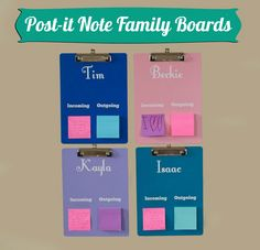 POST IT Note Family Encouragement Boards --- Facilitates encouraging one another at home and could also be used in a classroom setting!