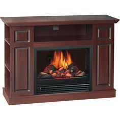"Electric Fireplace Heaters Walmart | Electric Media Fireplace, for TVs up to 46"", Cherry"