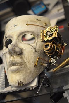 This is a steampunk costume that was created for a music video . To accompany the mask a skull cap was made. Design Steampunk, Mode Steampunk, Style Steampunk, Steampunk Mask, Victorian Steampunk, Steampunk Costume, Steampunk Clothing, Steampunk Fashion, Victorian Era