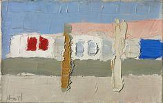Nicolas de Staël,  Grignan,  1953 -  Oil on canvas 5 1/2 by 8 5/8 in.  14 by 60 cm.