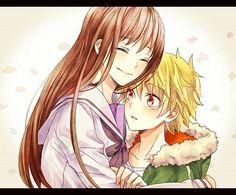 Noragami ~ Hiyori & yukine They're so cute together :)