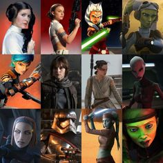 crazykinux:  The powerful women of Star Wars! Honorable mentions include Mon mothma, shaak ti, aurra sing, zam wessel, bariss offee, satine,  and of course aunt beru. #StarWars #StarWarsAlliance by starwarsfanpage http://ift.tt/1GCDvd6