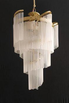 Art Deco Decor, Art Deco Home, Art Deco Design, Decoration, Art Deco Style, Art Deco Chandelier, Glass Chandelier, Art Deco Mirror, Chandeliers