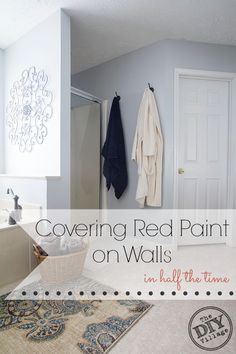 How to cover red paint on walls in half the time #ad #UpToTheTest