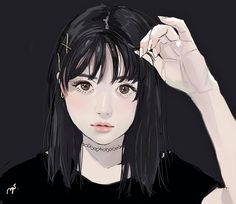 Image uploaded by Find images and videos about girl, anime and drawing on We Heart It - the app to get lost in what you love. Sketch Manga, Manga Drawing, Girls Anime, Emo Girls, Art Anime, Anime Art Girl, Manga Girl, Aesthetic Art, Aesthetic Anime