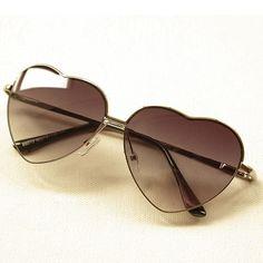 Gradient Color Love Heart Frame Fashion Sunglasses Shades