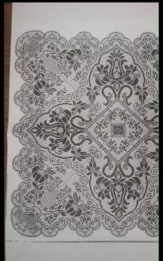 Graph Crochet, Filet Crochet Charts, Cross Stitch Art, Cross Stitch Patterns, Crochet Doilies, Crochet Flowers, Victorian Cross Stitch, Hand Embroidery, Ancient Art