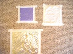 Fun Floor Touch Mats  Toddlers love to explore different surfaces and touch them with their hands. Here's a great way for them to do that on the floor. Take a piece of tinfoil and tape it to the floor. Let your toddler touch it, step on it, hit it with a wooden spoon! Then put just a teaspoon of water in a ziploc baggie and tape that to the floor next to the tinfoil. Then take a baby washcloth and tape that to the floor. Let your toddler explore all the different textures with her hands or feet!