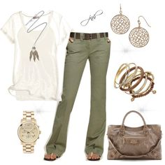 casual pants, created by jill-hammel on polyvore