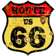 Illustration about Vintage route 66 road sign, bullet holes, vector illustration. Illustration of mexico, image, icon - 34978573 Retro Advertising, Vintage Advertisements, Route 66, Vintage Labels, Retro Vintage, Disney Vintage, Harley Davidson Art, Motorcycle Posters, Vintage Metal Signs