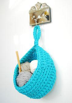 Crochet Hanging Basket Tshirt  Zpagetti Yarn in by DeliriumDecor, $38.00