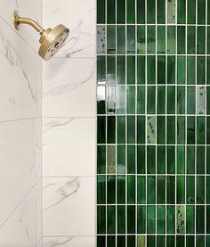 2020 Tile Trends: 6 Ceramic Tile Styles We're Excited About – Mercury Mosaics Mosaic Shower Tile, Shower Tile Designs, Green Subway Tile, Tile Installation, Style Tile, Decoration, Bathroom Cabinets, Bathroom Vanities, Mosaics