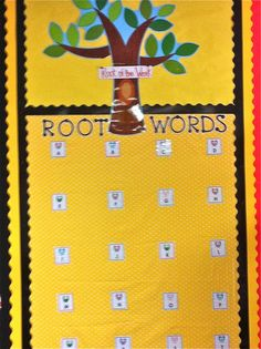 Root Word Wall  Fancy Free in Fourth