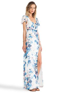 Lovers + Friends Lovers + Friends x REVOLVE The Keeper Maxi in Blue Floral