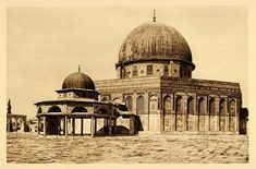 dome of rock mosque for muslim people. Built over the jewish temple