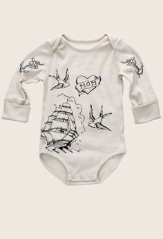 Organic Baby bodysuit, Tattoo (maybe they'll do one with Auntie Kat instead of Mom ;)