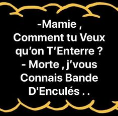 Grandma how do you want us to bury you? dead I know you band . Image Fun, French Quotes, Funny Text Messages, Geek Humor, Make Me Happy, Funny Cute, I Laughed, Knowing You, Funny Jokes