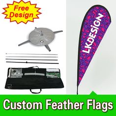 Free Design Free Shipping Double Sided Cross Base Teardrop Flags Banners Flag Signs Advertising Ad Flags Feather Signs