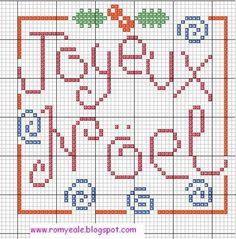 .joeux noel cross stitch