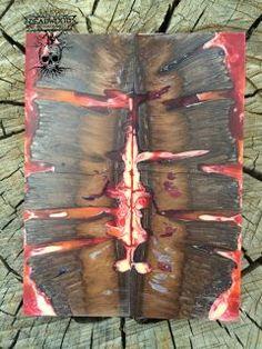 Deadwood Banksia Pod Knife Scales, cast in Reds.5 X 2 X 3/8