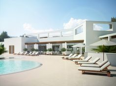 Architectural Rendering | Architectural rendering of a restaurant in Ibiza