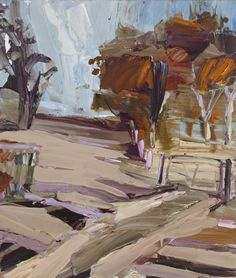 Hill End - Jan Murphy Gallery Pastel Landscape, Landscape Artwork, Abstract Landscape Painting, Seascape Paintings, Contemporary Landscape, Watercolor Paintings, Australian Painting, Australian Artists, Arts And Crafts Interiors