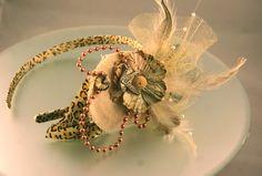 Romantic Bird Flower Pearl Rhinestone Feather Leopard Print Women's Headband