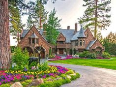 Castle on Lake Tahoe.