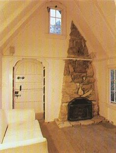 Interior of 300 sf tiny cottage from the book Cottages by the Sea