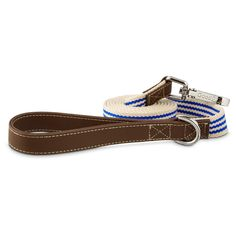 Good2Go+Oxford+Classic+Blue+Striped+Dog+Leash+-+Classic+approach+to+an+oxford+style+collar+for+a+simpler+look+to+your+dog's+collars+and+leashes. - http://www.petco.com/shop/en/petcostore/product/good2go-oxford-classic-blue-striped-dog-leash